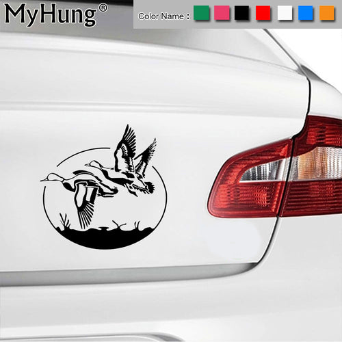 17.8*17.4CM New Vinyl Flying Wild Goose Hunting Car Body Stickers Bike Motorcycle Window Car Decals Car Styling Cool Multi Color