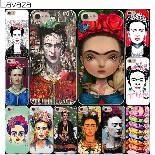 Lavaza fashion painting Frida Kahlo Hard White Coque Shell Phone Case for Apple iPhone 8 7 6 6S Plus 5 5S SE 5C 4S X 10 Cover