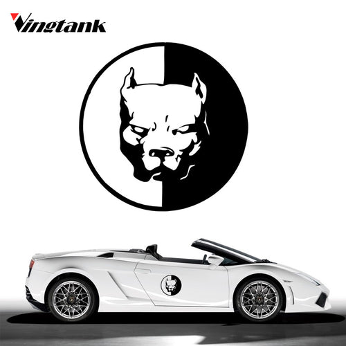 12*12cm Reflective Car Sticker Cool Bulldog Super Hero Dog Auto Safety Warning Stickers Window Sticker