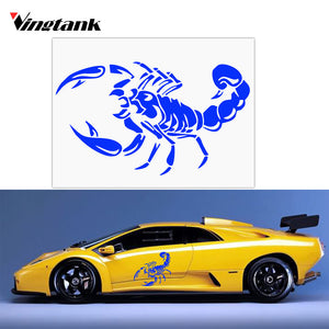 28cm Reflective 3D Scorpion Car Stickers Styling Vinyl Decal Auto Sticker Warning Stickers Window Sticker Blue Yellow