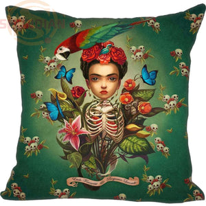 Hot Sale High Quality Frida Kahlo Pillowcases Custom your image zipper Pillowcase 35x35cm 40x40cm 45x45cm 60x60cm two sides