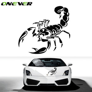 Onever Car Styling Reflective Vinyl/PVC Sticker 28cm Reflective 3D Scorpion Car Stickers And Decals Auto Decor Creative Stickers