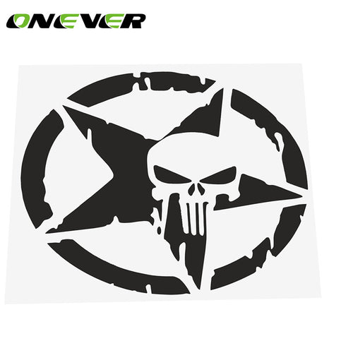 Star Skull Car Sticker Decals Cool Window Wall Sticker Motorcycle Car Styling Accessories 4.6