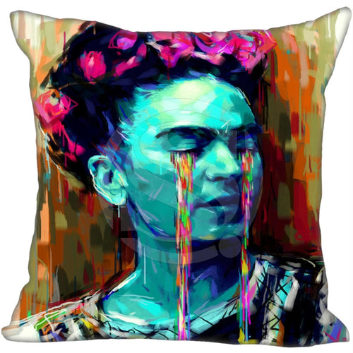 Frida Kahlo Colorful Frida Pillowcase 18x18 inch Zippered Pillow Cover
