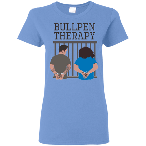 Bullpen Therapy Podcast Ladies T-Shirt