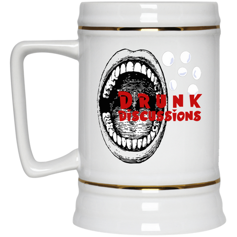 The Drunk Discussions Podcast Beer Stein 22oz.