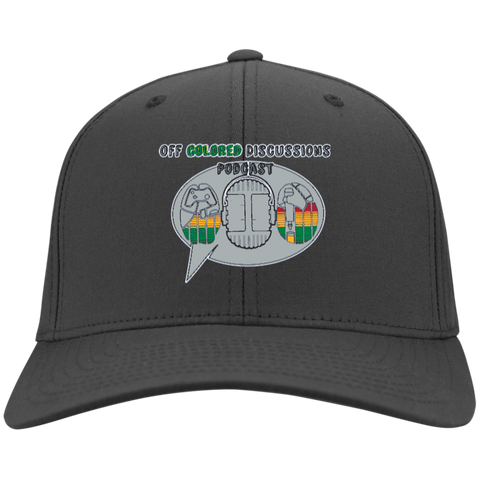 Off Colored Discussions Podcast. Twill Cap