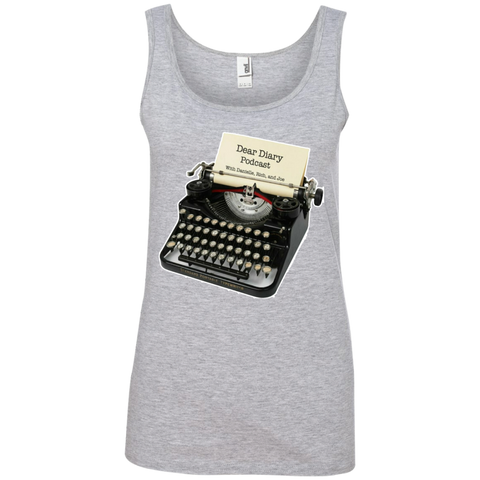 Dear Diary Podcast Ladies Ringspun Cotton Tank Top