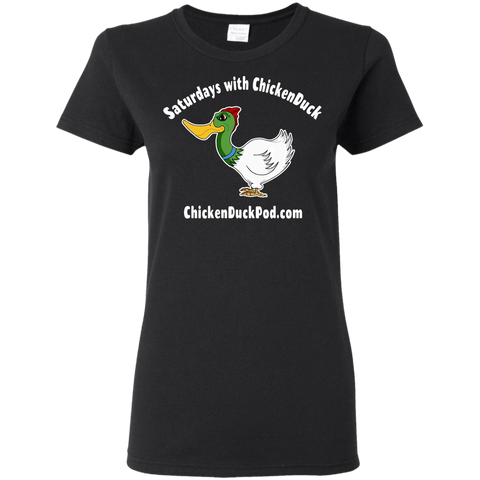 Saturdays With Chickenduck Ladies T-Shirt