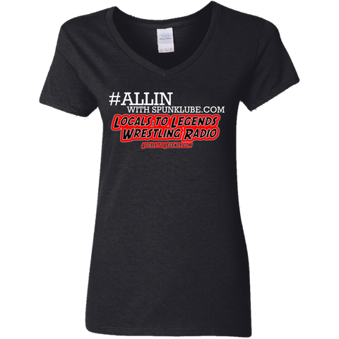 ALLIN LOCAL Ladies V-Neck T-Shirt