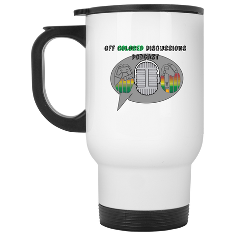 Off Colored Discussions Podcast Travel Mug