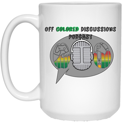 Off Colored Discussions Podcast White Mug