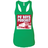 Po' Boys Podcast Ladies Racerback Tank