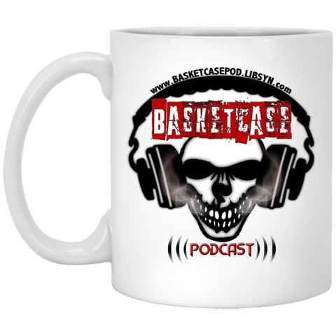 Basketcase Podcast 11 oz. White Mug