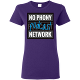 No Phony Podcast Network Ladies T-Shirt