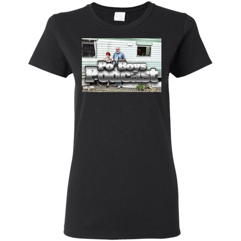Po' Boys Podcast Ladies T-Shirt