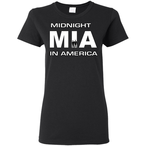 Midnight In America Ladies T-Shirt