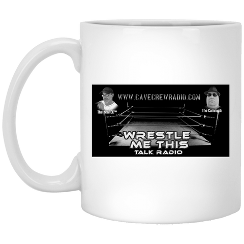 Wrestle Me Radio  White Mug