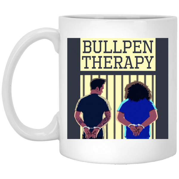 Bullpen Therapy Podcast White Mug