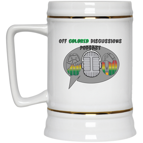 Off Colored Discussions Podcast Beer Stein 22oz.