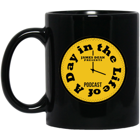 A Day In The Life Of A Podcast Black Mug