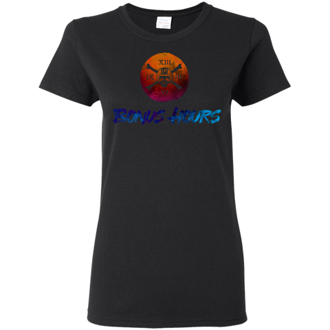 The Bonus Hours Cotton T-Shirt Ladies T-Shirt