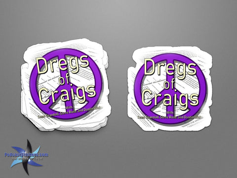 Dregs of Craigs Sticker