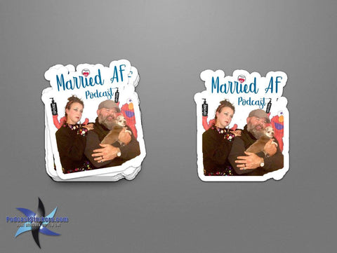 Married AF Podcast Stickers