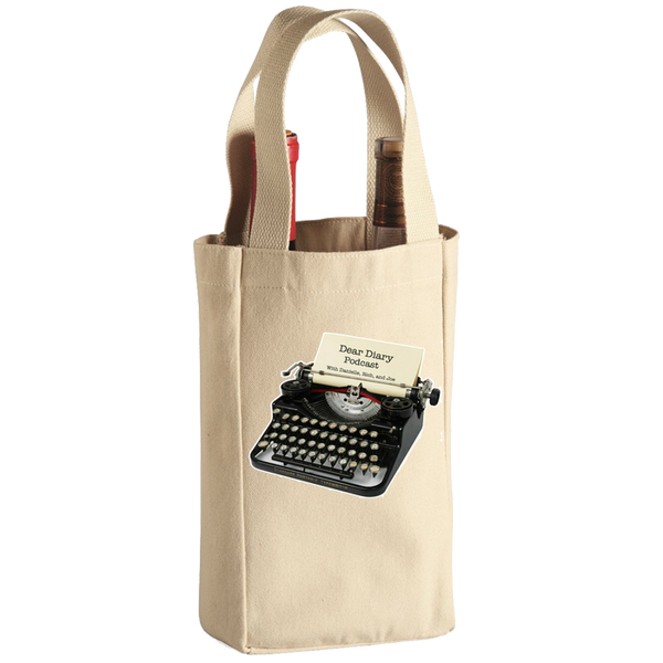Dear Diary Podcast Wine Tote Bag - 2 Bottle