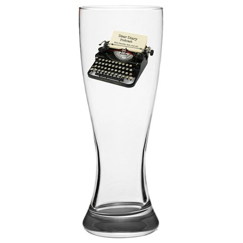 Dear Diary Podcast Pilsner Glass