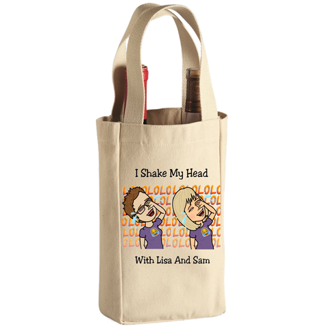I Shake My Head With Lisa and Sam Wine Tote Bag - 2 Bottle