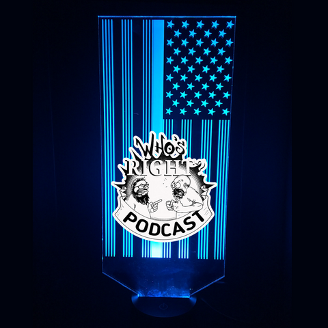 Who's Right Podcast Led Night Lights