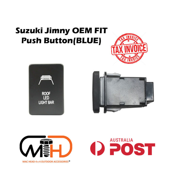 SUZUKI JIMNY 2019 2020 JB74 PUSH SWITCH ROOF LED Light Bar BLUE