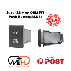 SUZUKI JIMNY 2019 2020 JB74 PUSH SWITCH LED Side Light Bar BLUE Work light