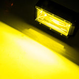 2x 5inch Flood LED Light Bar Offroad Work Driving Fog Lamp Yellow CREE Spread