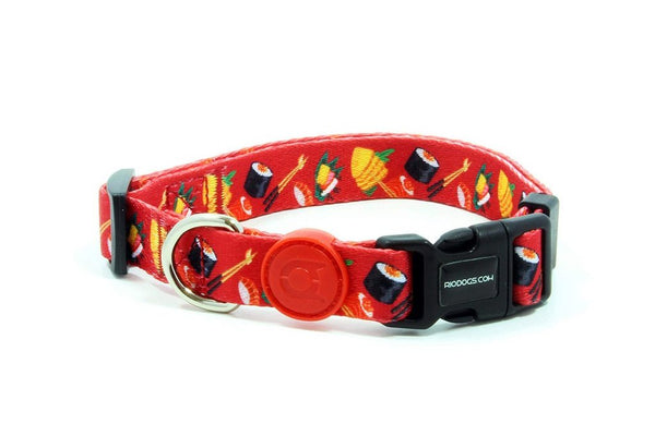 Dog Collar | Red Print | Rio Dogs Store