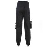 Load image into Gallery viewer, Gothic High Waist Pleated Pocket Trousers (Black) - WOMENEXY