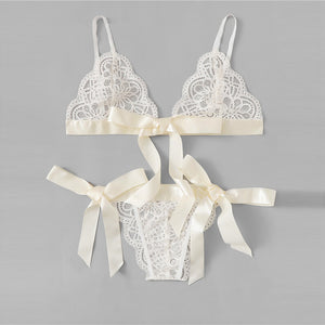 Sexy Lace Scallop Lingerie Set - WOMENEXY