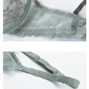 Sexy Slim Lace Transparent Temptation Bra Sets - WOMENEXY