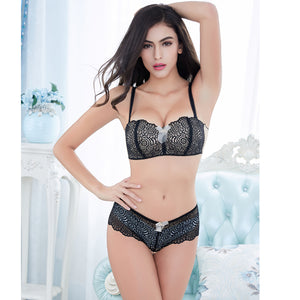 Sexy Half Cup Lace Bra Sets - WOMENEXY