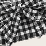 Load image into Gallery viewer, Preppy Gingham Crop Top and Shorts Set - WOMENEXY