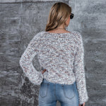 Load image into Gallery viewer, Casual Drop Shoulder Fuzzy Knit Sweater