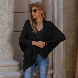 Casual Batwing Sleeve Cardigan