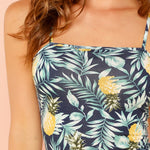 Load image into Gallery viewer, Boho Allover Pineapple Tropical Print Cami Women Dresses - WOMENEXY