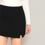 Load image into Gallery viewer, Casual Split Detail Plus Size Women Shorts - Black - L to 3XL - WOMENEXY