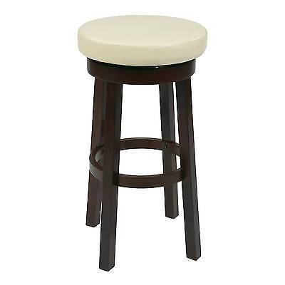 "Office Star OSP Designs MET1930-ES 30"" Metro Round Barstool in Espresso Faux Leather"