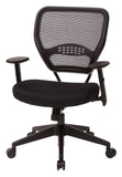 Office Star Space Seating 5500 Professional Black AirGrid® Back Managers Chair with Black Mesh Fabric Seat - Peazz Furniture - 3