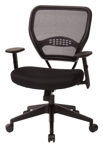 ... Office Star Space Seating 5500 Professional Black AirGrid® Back  Managers Chair With Black Mesh Fabric ...