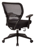 Office Star Space Seating 5500 Professional Black AirGrid® Back Managers Chair with Black Mesh Fabric Seat - Peazz Furniture - 2