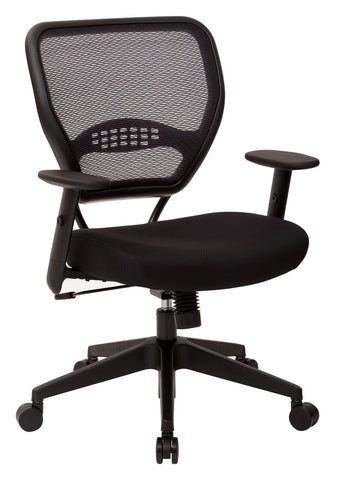 Office Star Space Seating 5500 Professional Black AirGrid® Back Managers Chair with Black Mesh Fabric Seat - Peazz Furniture - 1